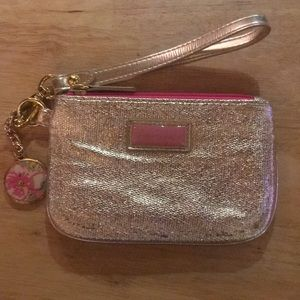 Lilly Pulitzer Gold wristlet